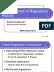 Sense of Regression