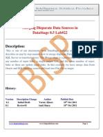 Mergering Desparate Data Source Using Datastage