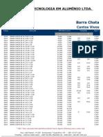 Barra Chata Aluminio