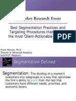 Segmentation FrankWyman Slides