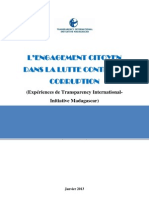 L'ENGAGEMENT CITOYENDANS LA LUTTE CONTRE LA CORRUPTION(Expériences de Transparency International-Initiative Madagascar)