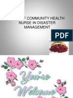 Role of Community Health Nurse in Disaster Management Community Health Nursing Ppt