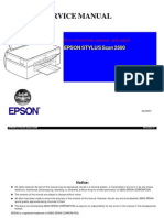 Epson Stylus Scan 2500 Service Manual