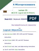 L10 Logical & Arithmetic ENE334