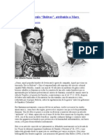 Acerca del artículo contra bolivar de marx