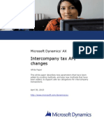 Intercompany Tax API Changes