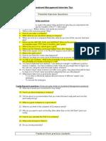 Investment Management Interview Tips Summer 2013