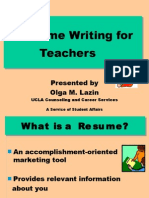 CVresumewriting forlecturer