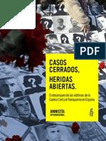 Informes de Amnistía Internacional sobre Víctimas de la Guerra Civil y el Franquismo