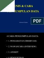 Jenis & Cara Pengumpulan Data Di Lapangan