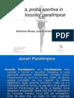 Natatia, Proba Sportiva in Cadrul Jocurilor Paralimpice