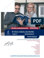 Informator 2013 - Studia Podyplomowe - Wyższa Szkoła Bankowa w Toruniu