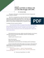 Tarlochan Singh-Miri Piri Doctrine in Sikhism