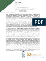 DECLARACIÓN PÚBLICA Escuela de Terapia Ocupacional ante entrada de Fuerzas Especiales a Casa Central de la Universidad de Chile