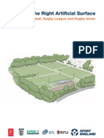 Selecting the Right Artificial Surface for Hockey, Football, Rugby League and Rugby Union 2010