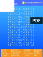 Beach Wordsearch