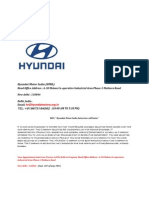 Hyundai Motor India (Hmil) Interview Call Letter