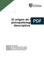 El Origen de La p. Descriptiva