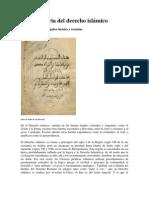 Breve historia del derecho islámico