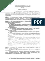 Estatuto Administrativo Chileno