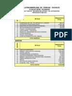 Programacion Gastos e Ingresos 2012 FLACSO