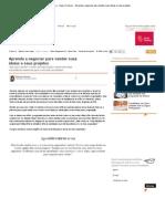 ClickCarreira · Quero Crescer · Aprenda a negociar para vender suas ideias e seus projetos.pdf