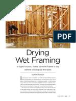 Drying Wet Framing JLC June 2013 Article