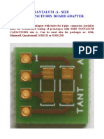 TANTALUM -A - SIZE  SMD CAPACITORS  BOARD ADAPTER