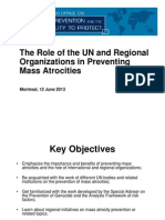 Role of UN & Regional Organizations in Preventing Mass Atrocities