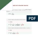 Derivada de la función invers1