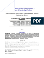 Mindulness and Psychology Foundations and Terms in Buddhist Psychology
