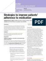 Strategies to Improve Patients Adherence to Medication