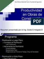 Productividad en Obra CIPRO -2010