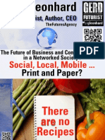 The Future of Business and Communications in a Networked Society- Social, Local, Mobile- Print and Paper