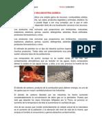 Contaminantes en Una Industria Quimica