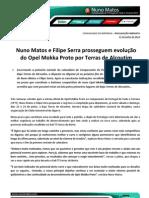 COMUNICADO DE IMPRENSA | NUNO MATOS - ANTEVISÃO BAJA TERRAS DE ALCOUTIM