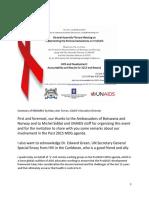 UNGA Plenary Meeting (June 2013) AIDS and Development