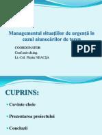 Managementul Situatiilor de Urgenta in Cazul Alunecarilor de Teren