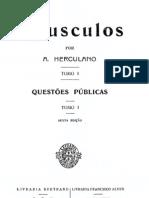 Opúsculos, de Alexandre Herculano, vol. 1