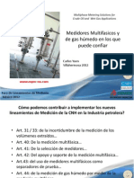 Medidores Multifasicos y de gas húmedo en los que