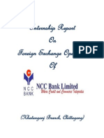 Internship Report on Foreign Exchange Operation of NCC Bank Ltd. Khatungonj Branch. 2013