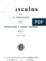 Opúsculos, de Alexandre Herculano, vol. 5