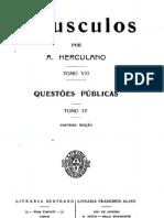 Opúsculos, de Alexandre Herculano, vol. 7