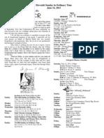 June 16, 2013 Bulletin