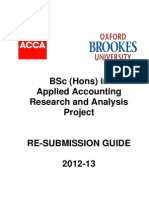 Resubmission Guide 2012