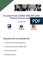 Primeros Resultados Panel CASEN 1996 2001 2006 17oct07