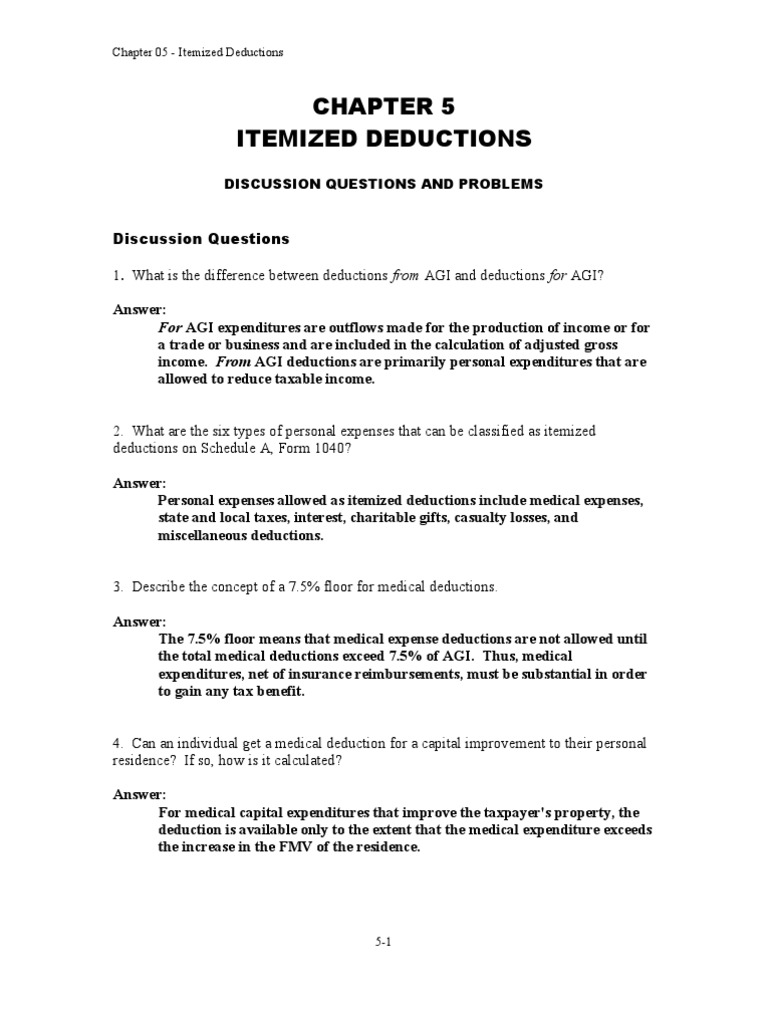 Chapter 5 tax deduction expense falaconquin