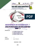 Resoluciion de Examenes Resistencia de Materiales 2009-i