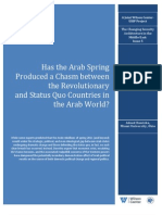 Has the Arab Spring Produced a Chasm between the Revolutionary and Status Quo countries in the Arab World?
