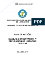 07 Plan de Depuracion de Historias Clinicas